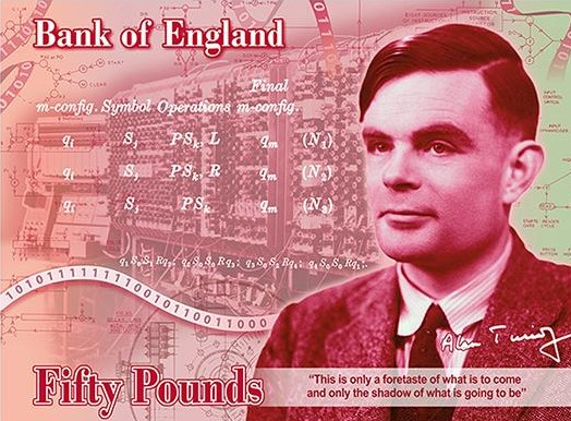 Image of new 50 pound banknote